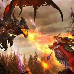 Битва Смертокрыла и Алекстразы