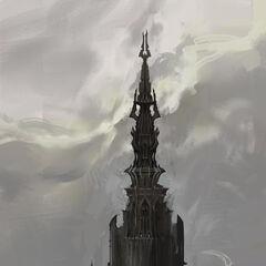 Башня Тюремщика на фоне неба