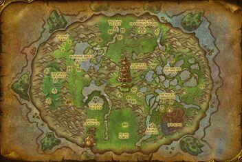 Wandernde insel karte