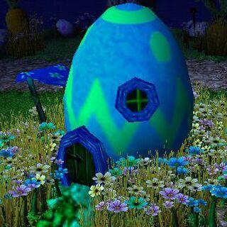 Домик из Пасхального яйца
