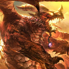 Фан-арт Алекстразы в форме дракона.