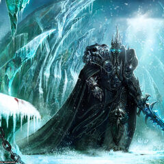 The Lich King roaming Icecrown (by Wei Wang).