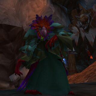 Gracz pod normalną, fioletową wersją arakkoa.