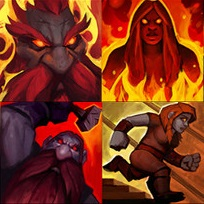 Dark Iron dwarves from their racial ability icons