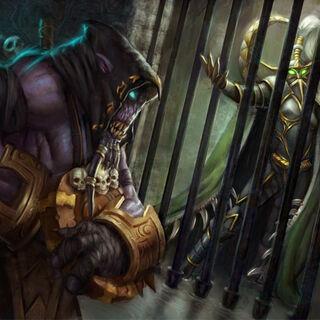 Akama uwalnia Maiew z więzienia Illidana