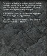 Plaque en pierre gravée (objet)