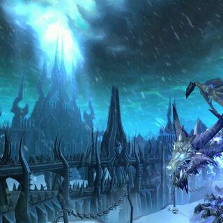 Cytadela widoczna na ekranie logowania w <i>Wrath of the Lich King</i>