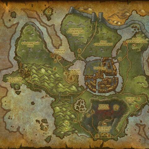 Карта региона.