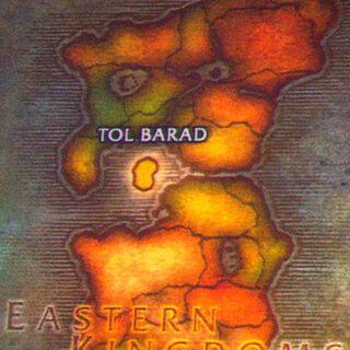 Тол Барад на карте Восточных Королевств во время Blizzcon 2009.