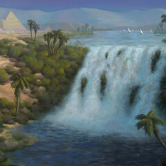 Koncept wodospadu w Uldum
