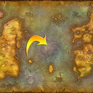 Lokalizacja Maelstromu w <i>World of Warcraft</i>.