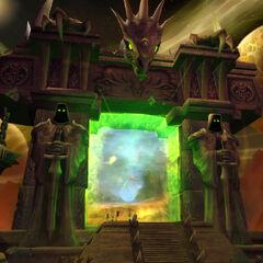Темный Портал на экране ввода данных в <i>The Burning Crusade</i>.