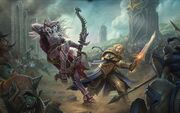 Sylvanas vs Anduin Capital City BfA