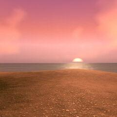 Восход на острове