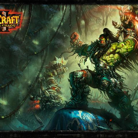 Официальные обои <i>Warcraft III: RoC</i>.