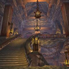 Лестница внутри крепости
