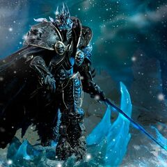 The Lich King Arthas statue by Sideshow Collectibles.