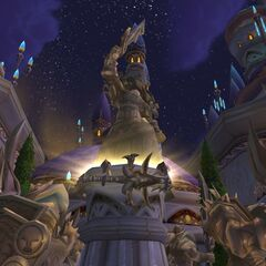 The shattered hilt of Forstmourne in Dalaran.