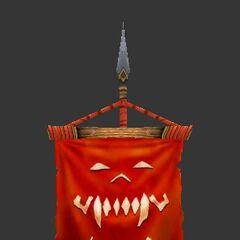 Основной цвет штандарта клана Песни Войны красный
