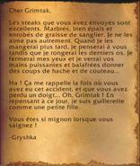 Lettre de Gryshka
