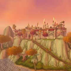 An overview of the exterior, as seen from atop the Inn of the <a class=