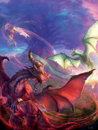 Аспекты драконов благословляют Нордрассил
