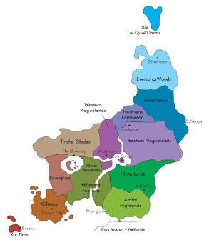 Lordaeron Map