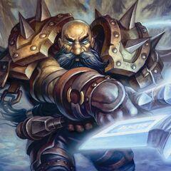 Brumdor Dreadforge, a dwarf death knight.