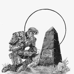 Лейтенант Лотара, Туралион, склонился над могилой наставника.