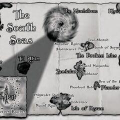 <i>Lands of Mystery</i> Карты Южных морей