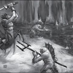 Битва нерубов и мурлоков.