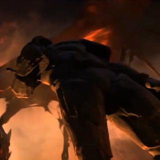 Статуя Данату во вступительном ролике <i>Cataclysm</i>.
