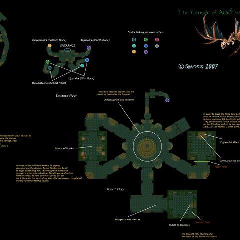 Детальная карта Храма Атал'Хаккара. Часть, которая не относится к верхнему этажу была удалена.