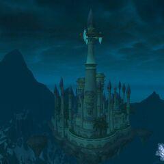 Вид на Даларан из Ледяной Короны.