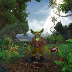 Goblin creation screen.