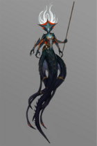 Azshara como Naga