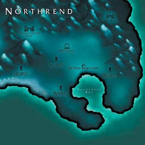 Smocze Cmentarzysko na mapie Northrend z <i><a href=