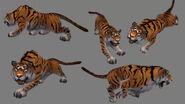 Tiger Model Art Panel