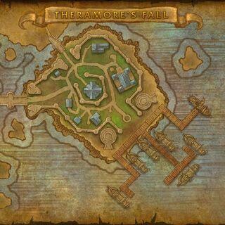Карта Терамора в сценарии Падение Терамора для Орды.