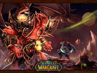 Kil'jaeden confronts Illidan
