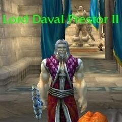 Lord Daval Prestor II w wersji beta <i>World of Warcraft</i>. Zastąpiony póxniej przez <a class=