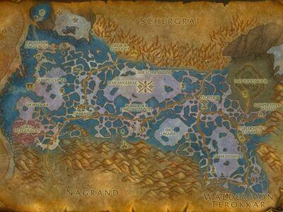 Zangarmarschen Karte