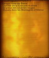 Dorgar Front-de-Pierre (objet)