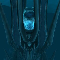 The Frozen Throne, as seen from outside Icecrown Citadel.