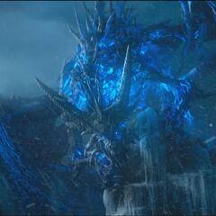 Сидрагоса в заставке к дополнению <i>Wrath of the Lich King</i>.