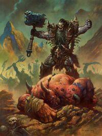 Le chef Main-noire mène la guerre aux ogres