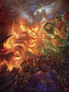 Битва титанидов с повелителями элементалей