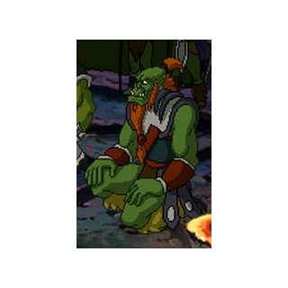 Kilrogg Deadeye after being freed from the interment camps in <i>Warcraft Adventures</i>.