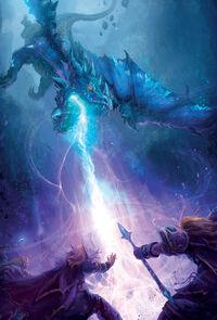 Dragons bleus fondent sur les biens-nés dans la forêt de Lunechant