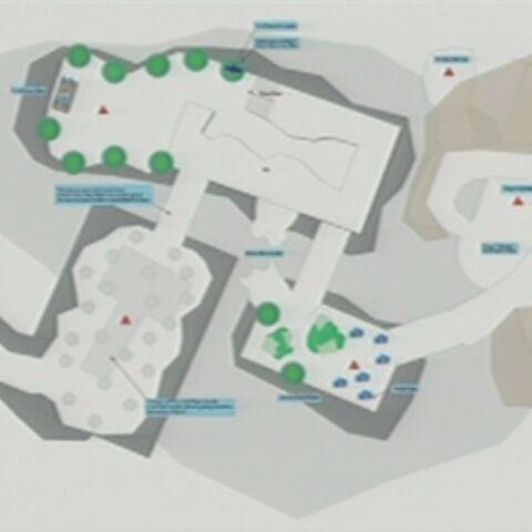 Карта подземелья Пещеры Черной Горы, представленная на BlizzCon 2009